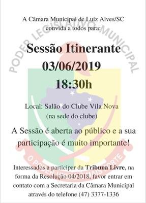 3ª Sessão Itinerante 2019