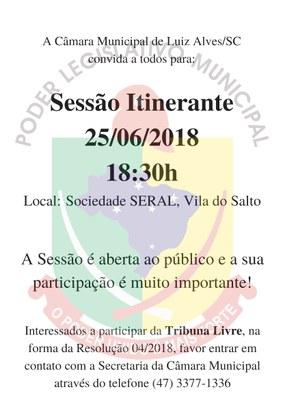 Sessão Itinerante da Câmara Municipal de Luiz Alves/SC