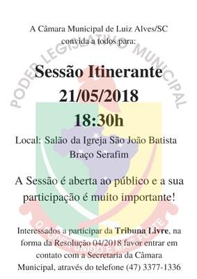 Sessão Itinerante em Braço Serafim