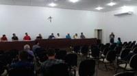A Diretora do IFSC de Gaspar, Ana Paula Kucsmynda da Silveira, fala na Tribuna Livre sobre os avanços da instituição de ensino