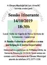 Câmara realizará a sexta sessão itinerante em Laranjeiras no dia 14 de outubro